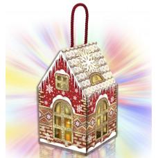 Новогодний подарок Домик со свечой (картон)