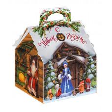 Новогодний подарок Лесная избушка (картон)