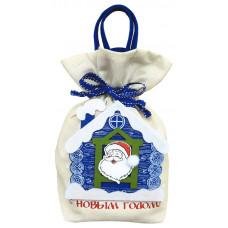 Новогодний подарок Избушка Деда Мороза (мешок, фетр)