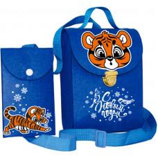 Новогодний подарок Рюкзак-чехол (тигр, фетр)