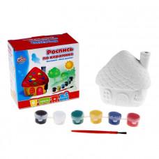 Домик-копилка (керамика, 6 красок. кисточка)