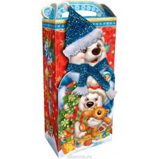 Мишка в шарфе (картон)
