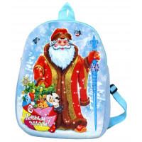 Новогодний подарок Рюкзак Дед Мороз (текстиль)