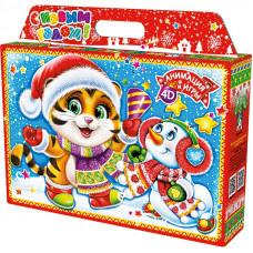 Новогодний подарок Кейс (тигр, картон)