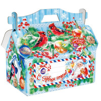 Новогодний подарок Кормушка (картон)