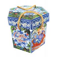 Новогодний подарок Снежные узоры (картон)