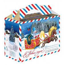 Новогодний подарок Снеговик-почтовик (картон)