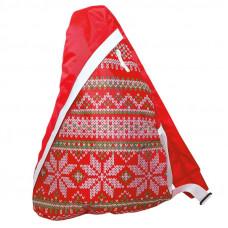 Новогодний подарок Рюкзак на одно плечо Вязаный