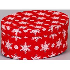 Снежинки (овальная коробка)