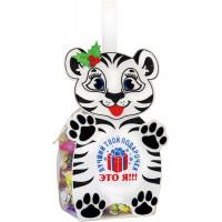 Новогодний подарок Лучший подарочек (тигр, фетр)
