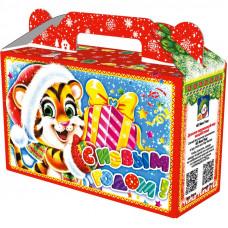 Новогодний подарок Подарочек (тигр, картон)