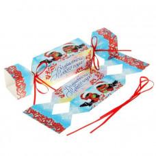Снегири (складная коробка-конфета)