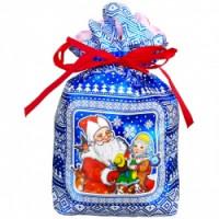 Новогодний подарок Три снежинки (мешочек)