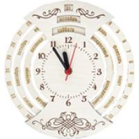 Часы-календарь из дерева в упаковке