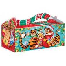 Новогодний подарок Полосатая семейка (тигр, картон)