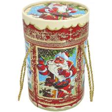 Дед Мороз и Снегири (туба, переплетный картон)