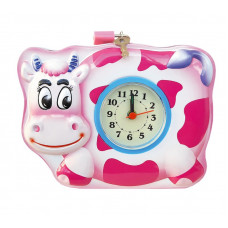 Корова с часами (замок+2 ключа, жесть)