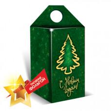 Коробка кубик-елочка (зеленая)