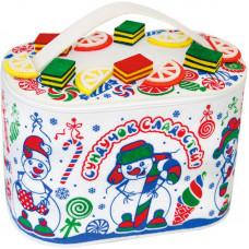 Новогодний подарок Сундучок сладостей (фетр)