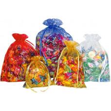 Новогодний подарок Органза синяя (мешок) до 500 гр