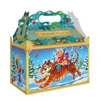 Новогодний подарок Встреча (тигр, картон)