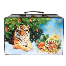Новогодний подарок Чемодан Тигр (дерево)
